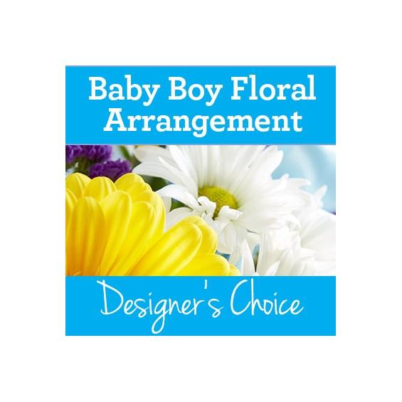 Baby Boy Floral Arrangement Flowerama Lorain